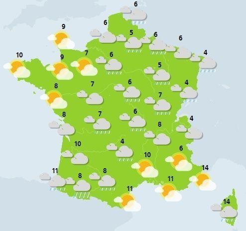 météo du 26 novembre crédit : Météo France