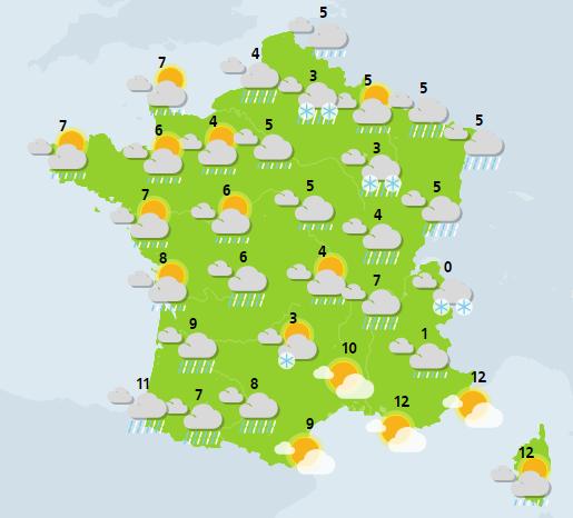 météo du 27 décembre crédit : Météo France