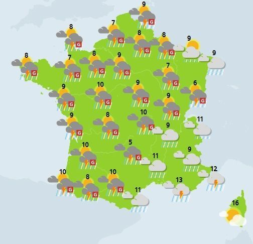 météo du 3 avril crédit : Météo France