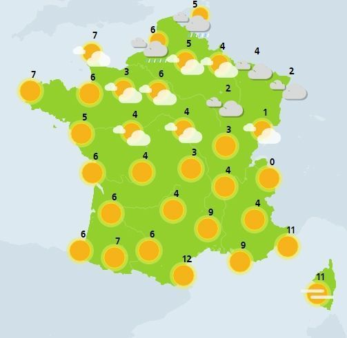 météo du 3 janvier crédit : Météo France