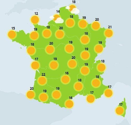 météo du 30 mars crédit : Météo France