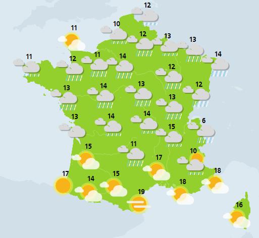 météo du 4 janvier crédit : Météo France