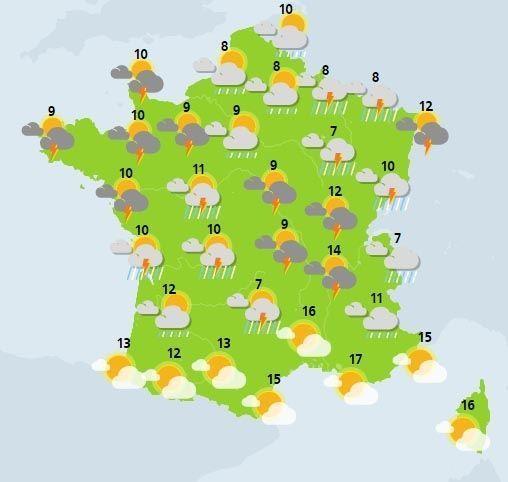 météo du 4 mars crédit : Météo France