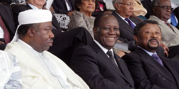 Omar Bongo, Jean Ping, Gabon crédit : KOLEWOLE EMMANUEL / AFP
