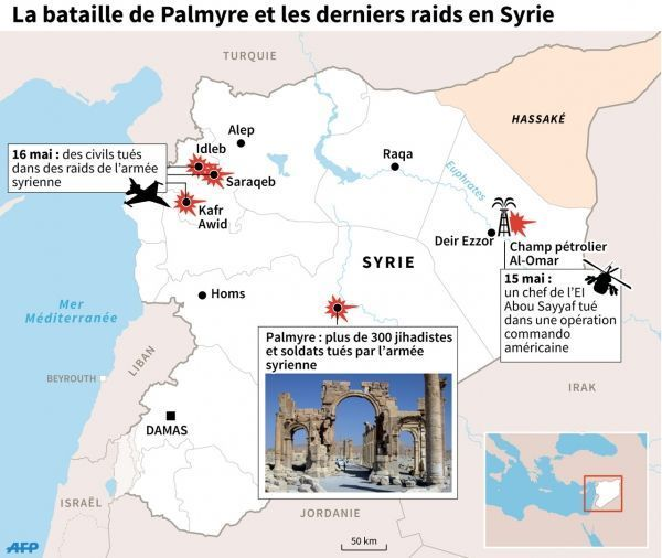 Palmyre, Syrie - infographie