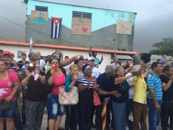 Passage du cortège transportant les cendres de Fidel Castro