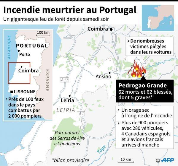 portugal, incendies, juin 2017 crédit : VINCENT LEFAI, KUN TIAN, GILLIAN HANDYSIDE, SABRINA BLANCHARD / AFP