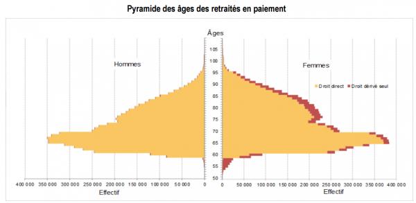 Pyramide des âges des retraités