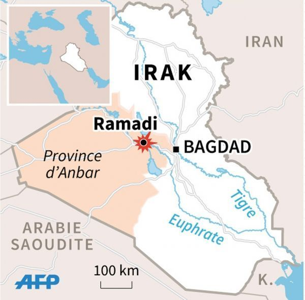 Ramadi, en Irak - infographie