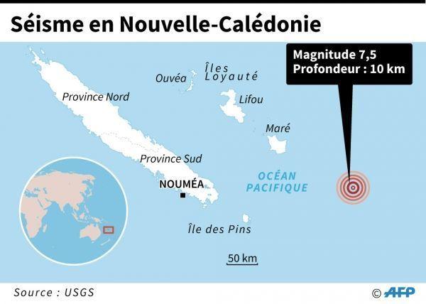 séisme nouvelle-calédonie crédit : Gal ROMA / AFP