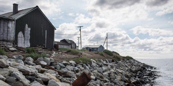 Shishmaref, Alaska, réchauffement climatique - 1280 Crédit : ANDREW BURTON / GETTY IMAGES NORTH AMERICA / AFP
