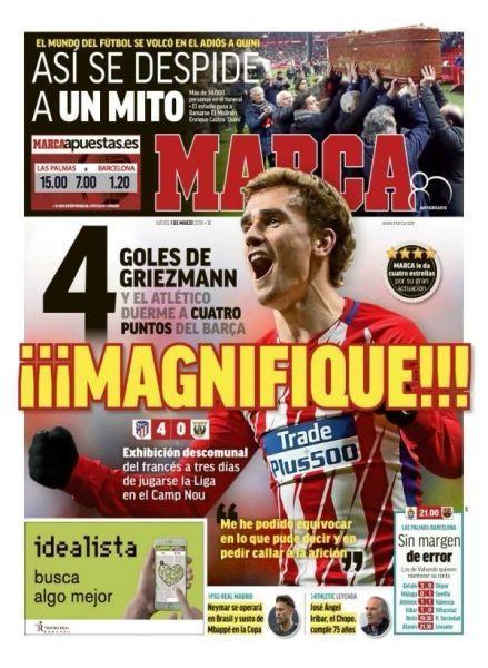 """Une de """"Marca"""" avec Griezmann"""