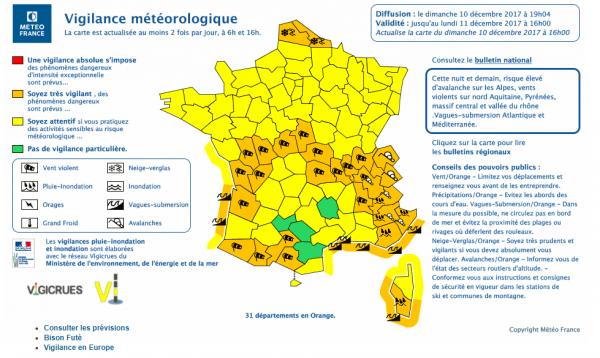 La Météo De Dimanche : 31 Départements Placés En Vigilance