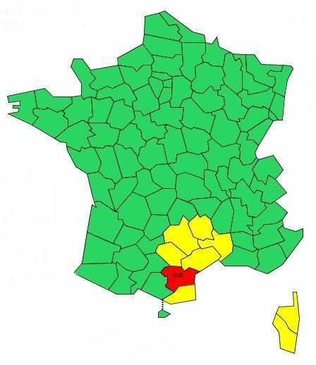vigilance rouge 16 octobre crédit Météo France