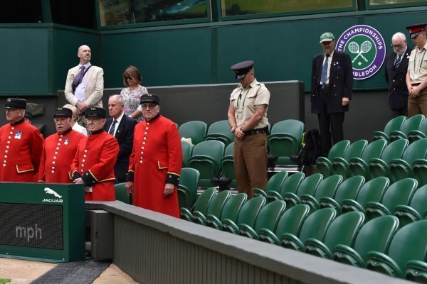 Wimbledon minute de silence