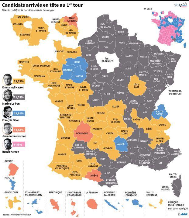 carte présidentielle france 2020 Présidentielle : les 8 cartes à voir pour comprendre le premier tour