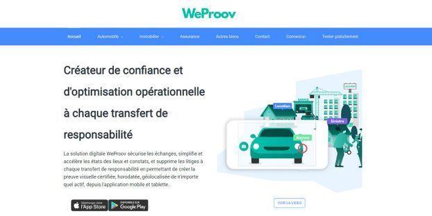 Capture d'écran WeProov