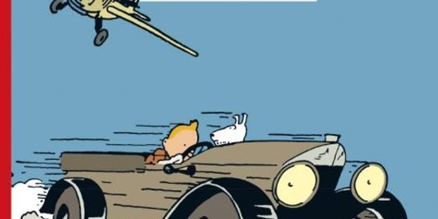 """couverture de la version colorisée de """"Tintin au pays des Soviets""""."""