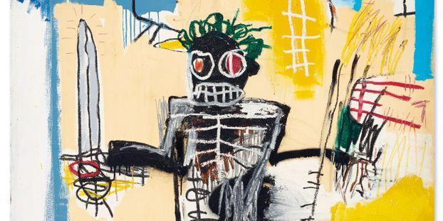 """""""Guerrier"""" de Jean-Michel Basquiat a été réalisée en 1982."""