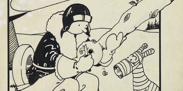 Le dessin de la première couverture de Tintin vendu 1,1 million de dollars aux enchères
