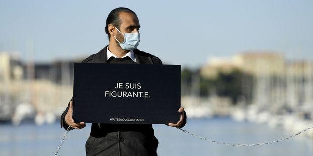 Les intermittents du spectacle veulent alerter sur leur situation à cause des fermetures de salles à Marseille.