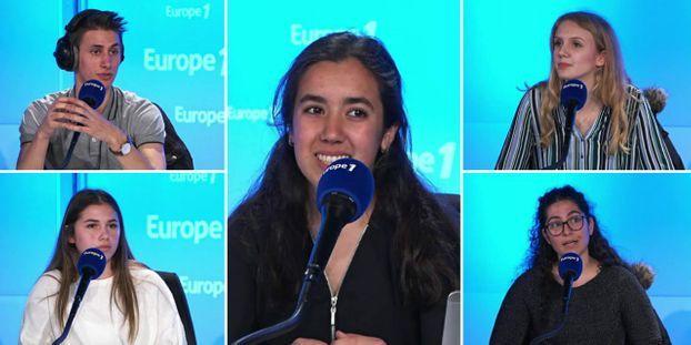Maxime Feugier (en haut à gauche), Anaïs Bounaix (en bas à gauche), Souad Ahdour (au milieu), Léonie Legentil (en haut à droite), et Charlène Loubière (en bas à droite). © Europe 1