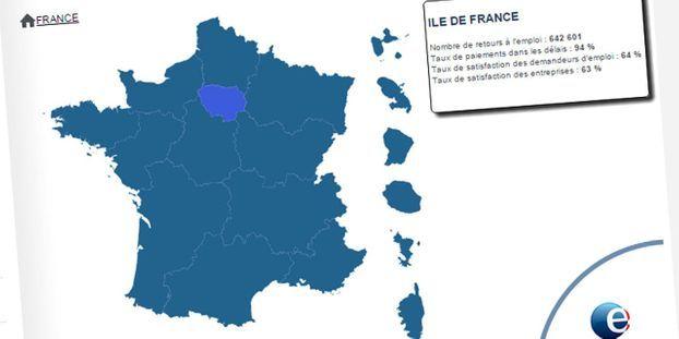 Pole Emploi Lance Une Carte Interactive De Ses Performances