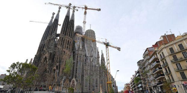 La Sagrada Familia de Gaudi, toujours en travaux, est le monument le plus visité d'Espagne.
