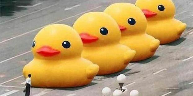 Chine Les Mots Gros Canard Jaune Censures