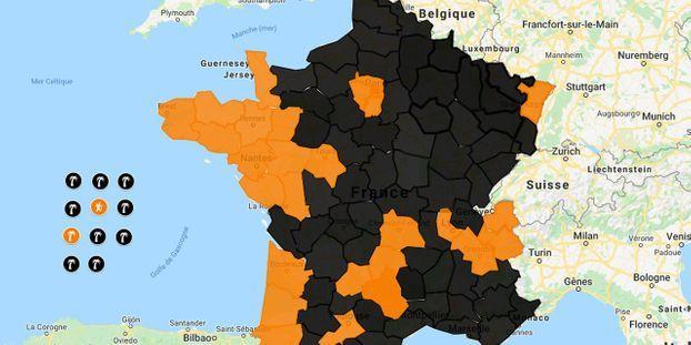 resultat election par departement carte CARTE   Européennes : les résultats département par département