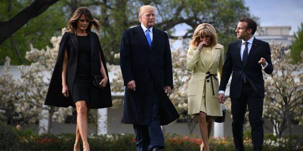 Macron En Visite Dtat Washington Pour Des Discussions Dlicates Avec Trump