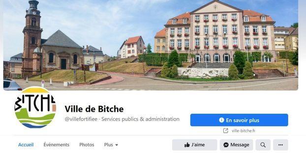 La page de la ville de Bitche en Moselle a été supprimée momentanément par Facebook.