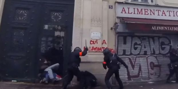Personne frappée au sol par des policiers jeudi : une enquête judiciaire ouverte à Paris