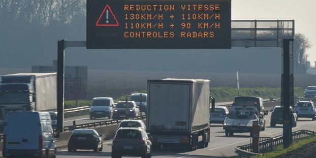 Pollution : la vitesse réduite de 20km/h dans le Nord