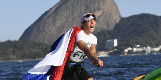 Jo De Rio 2016 Voile Charline Picon Championne Olympique De Planche A Voile Rs X