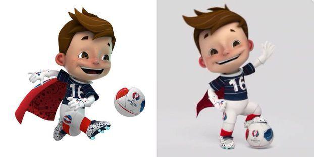 Mascotte De L Euro 2016 Super Victor Driblou Ou Goalix