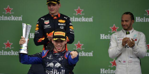 Pierre Gasly, plus jeune pilote français sur un podium de Formule 1