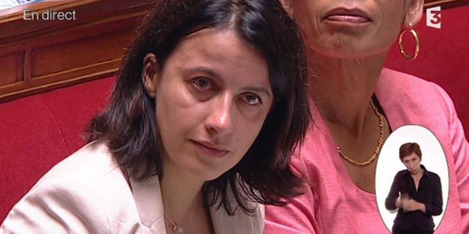 14-Juillet: Cécile Duflot très émue par une question d'un député UMP sur le tweet de son compagnon