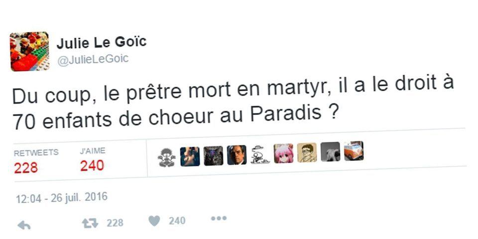 """À Brest, le FN réclame la démission d'une élue ex-EELV après """"une blague de mauvais goût"""" sur l'assassinat du prêtre Jacques Hamel"""