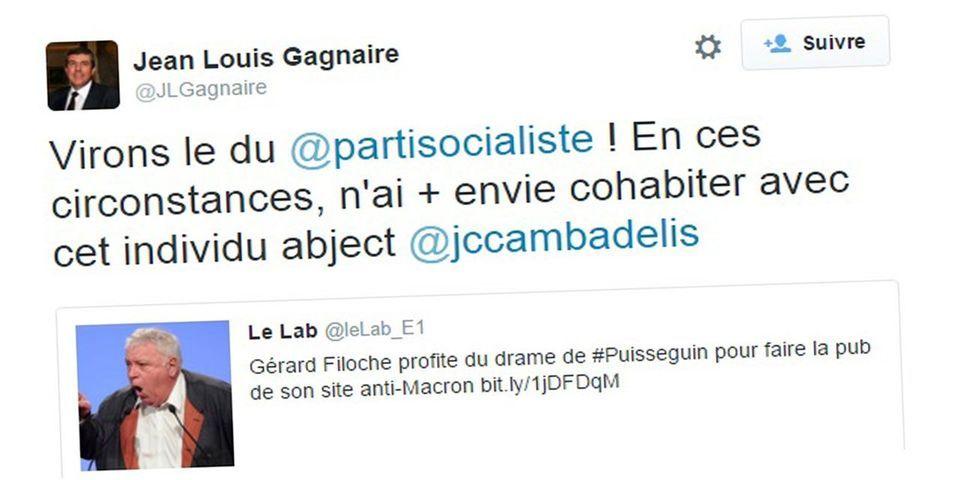 """Accident de Puisseguin : un député socialiste demande l'exclusion du PS de Gérard Filoche, """"un individu abject"""""""