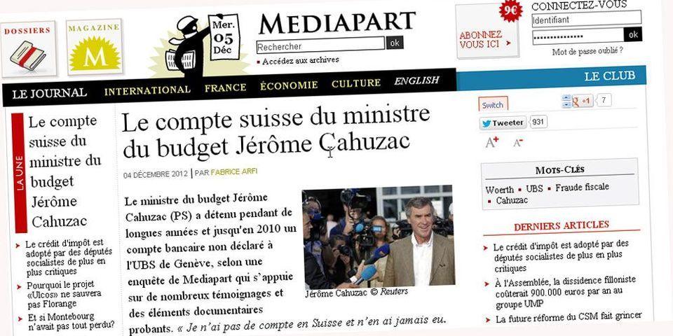 Accusations contre Cahuzac : la droite demande à Mediapart d'apporter des preuves