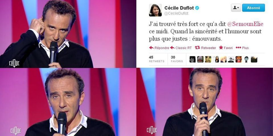 """Affaire Dieudonné : Cécile Duflot salue sur Twitter """"la sincérité et l'humour"""" du sketch d'Elie Semoun"""