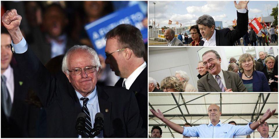Alain Juppé, Hervé Mariton et Jean-Luc Mélenchon prennent Bernie Sanders comme modèle