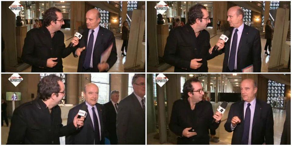 Alain Juppé refuse de se prêter au jeu de l'interview à la volée de Cyrille Eldin