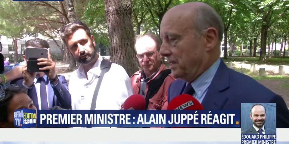 """Alain Juppé souhaite """"bonne chance"""" à son """"ami"""" Edouard Philippe, """"un homme de grand talent"""""""
