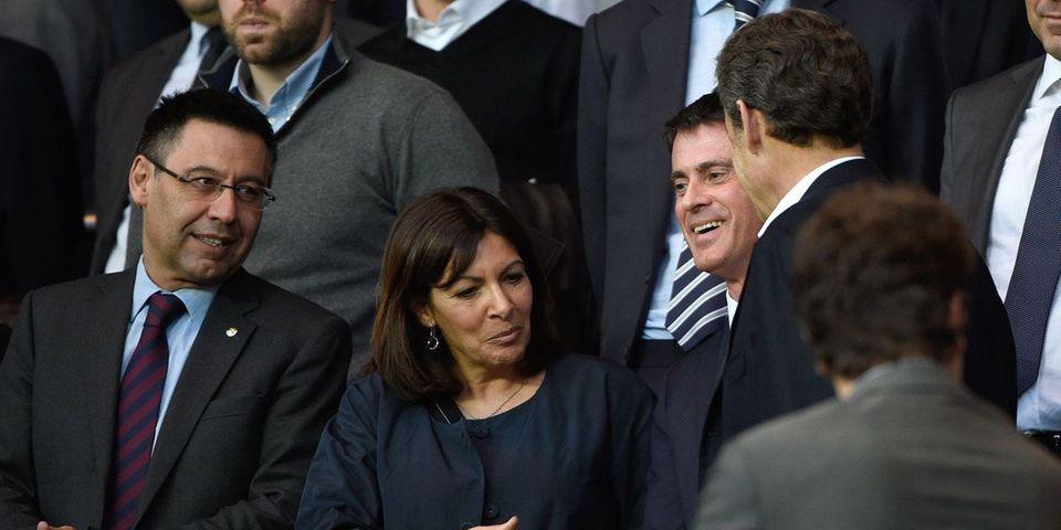 Anne Hidalgo, Manuel Valls et Nicolas Sarkozy réunis à Barcelone pour Barça-PSG