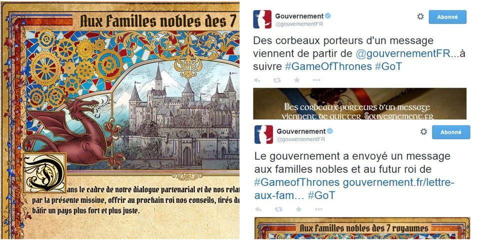 Après House of Cards, le gouvernement surfe sur Game of Thrones pour défendre sa politique