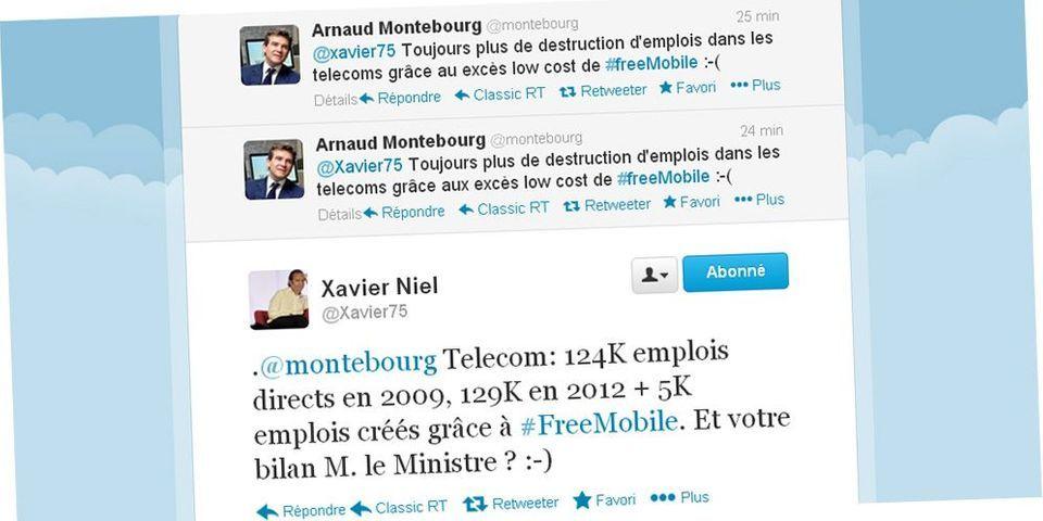 Arnaud Montebourg et Xavier Niel s'écharpent sur Twitter
