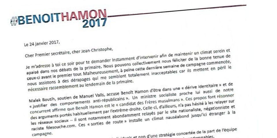 """Attaques des vallsistes : le camp Hamon menace de saisir la Haute autorité si Cambadélis ne réinstaure pas un """"climat serein"""""""