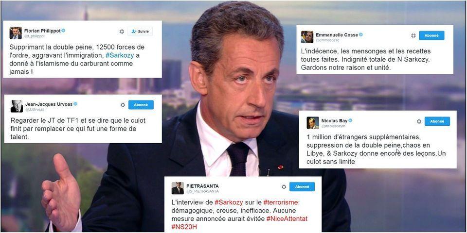 "Attentat de Nice : le PS et le FN raillent le ""culot"" de Nicolas Sarkozy"